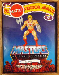 Vendor Award Received in 1983 from Mattel