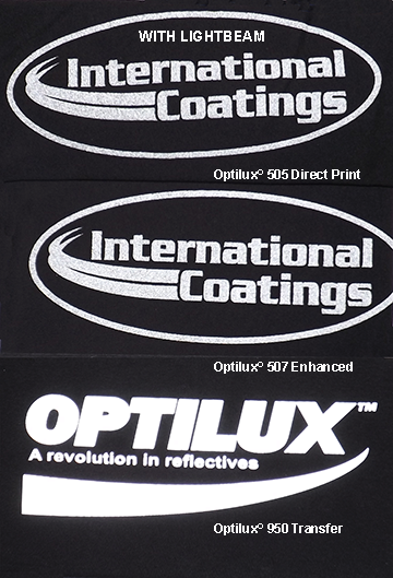 Optilux Comparison between 505, 507 Enhanced and 950 Transfer with Lightbeam