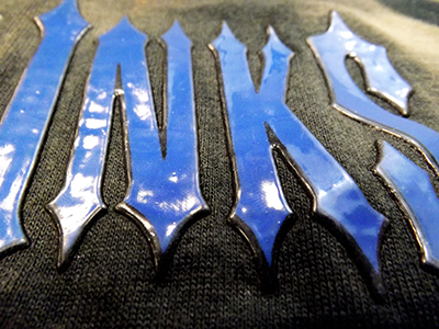 HD ink with a clear gel makes this logo pop.